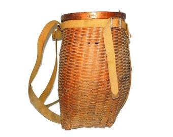 Adirondack Pack Basket Vintage Splint c1930s