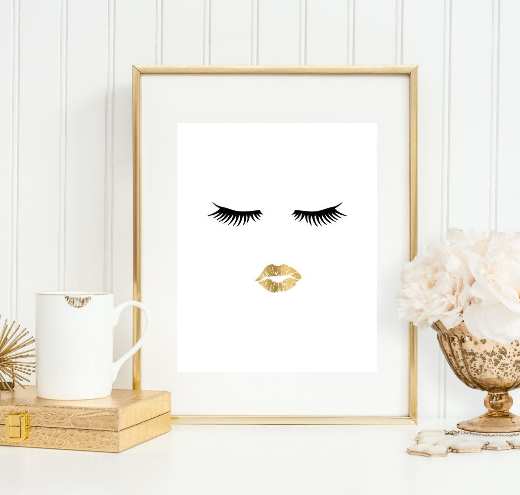 Bathroom wall art bathroom art print makeup art 5x7 8x10 for Bathroom wall decor images