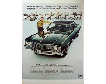 Vintage magazine ad for a 1970 Oldsmobile Ninety-Eight - 15
