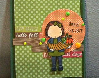 Happy Harvest... Greeting  Card...