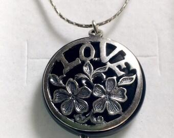 Silver 925 pendant Love