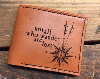 Leather wallet - mens wallet - minimalist wallet - wander wallet