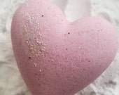 Heart Fizzy, Mango Bath Bomb, Handmade Bath and Foot Soak, Pampering Gift Ideas, Birthday Present, Home Spa, Party Favors, Heart Bath Bomb