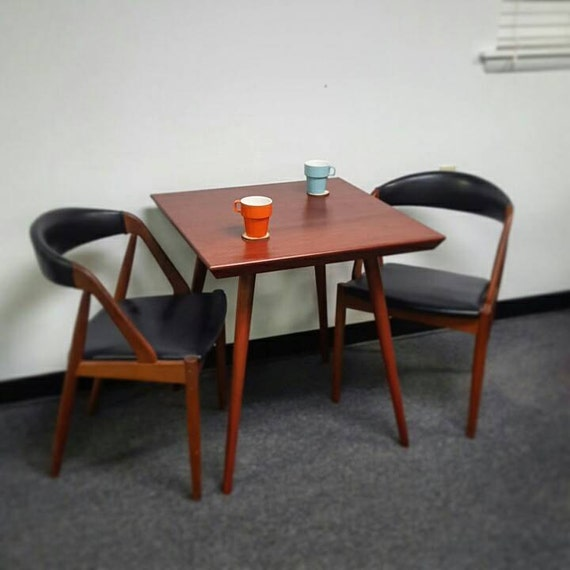 Mid century inspired bistro table two by flintalleyfurniture for Mid century bistro table
