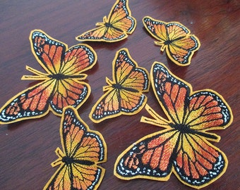 Monarch butterflies iron on applique patches
