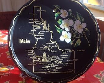 Vintage Idaho metal souvenir tray