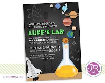 Science Lab Birthday Invitation