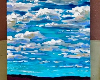 In The Valley Midwest Landscape Cloudscape Acrylic on Canvas Artist Chris Wakefield