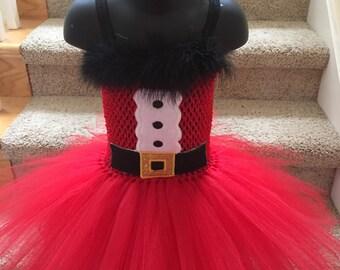 Santa tutu. Santa dress. Christmas tutu. Christmas dress.I love you Santa tutu set/ headband slider