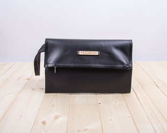 MOOSCH LEATHER CLUTCH