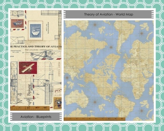 Items similar to beginner quilt kit airplane fabric for Childrens airplane fabric