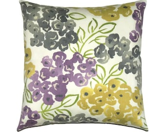 Floral Pillow Cover, 18x18 Pillow Cover, Decorative Pillows, Accent Pillow, Cushion Cover, Designer Pillow, Robert Allen Best Floral Purple