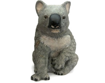 Vintage Royal Heritage Porcelain Koala Bear Figurine Statue Statuette Knick Knack Collectible - Grey Australian Koala