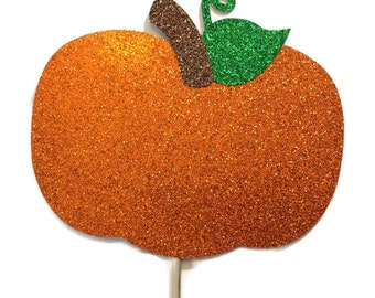 Photo Booth Props-Thanksgiving Photo Booth Prop Set-Pumpkin-Props with Glitter