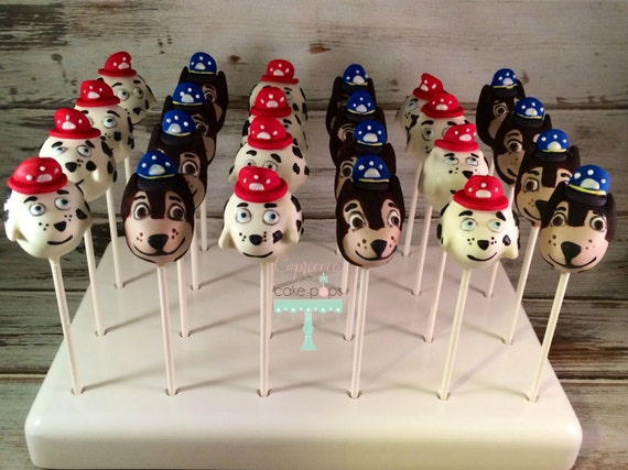 paw patrol cake pops items similar to paw patrol cake pops on etsy 6395