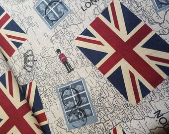 England - linen - fabric - 0.5 m - by the metre