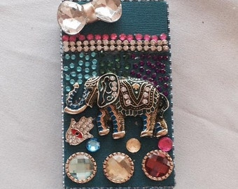 Elephant Rhinestones Cigarette Case  ,Cigarette Pack Holder