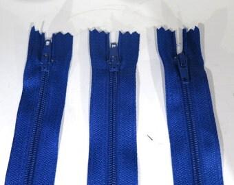 3pc zipper 8inch navy blue closed end nylon coil (Z80)