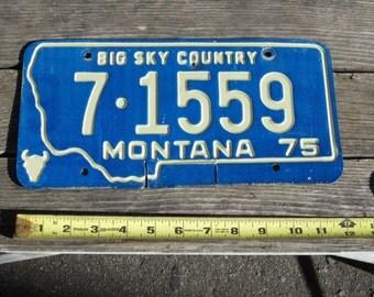 1975 Montana License plate