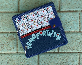 Transportation and Professions Quiet book, Unique gift for a boy, Theme busy book, 20x20cm, Custom 4-14 pages
