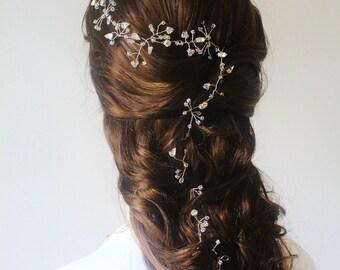 Wedding Hair Accessories,Bridal Crystal Hair Vine,Swarovski Crystal Hair Vine,Bridal Hairpiece,Bridal Head dress,Wedding Hair Vine,veil