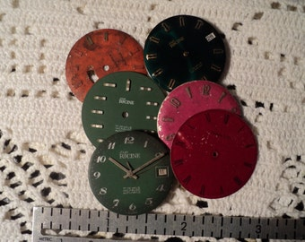Gents watch dials for steampunk, industrial, assemblage and altered art pieces.     E484