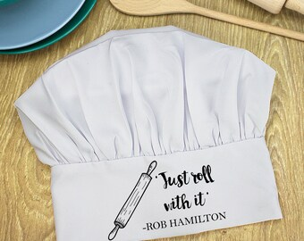 Roll With it Chef Hat - Cooking - Baker - Chef - Personalised Gift - Cook - Dinner - Tea - Cookware - FREE UK DELIVERY!
