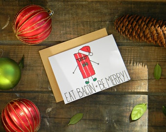 Bacon Christmas Fitness/Crossfit/Workout/Paleo Card