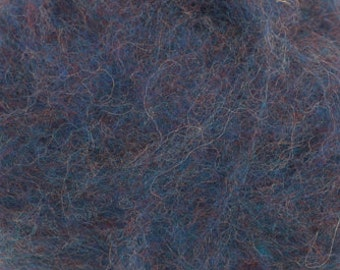 Carded Maori and Bergschaf Wool - Melange Collection - Blue Ara - 2 ounces