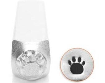Paw Print Stamp, 6mm Metal Stamp, Steel Punch, Animal Print Punch, Hand Stamping Tool, Pawprint Symbol, Design Stamp, UK Jewelry Stamp