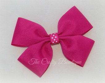 large pink hair bow dark pink hair bow extra large pink hair