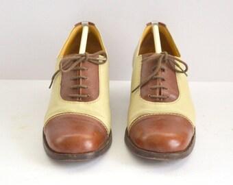 woman shoe SARTORE bicolor Vintage French