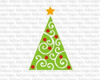 Christmas Tree svg - Chrstimas Tree cut files - Swirl Christmas Tree svg - Swirl Christmas Tree Cut File - Holiday svg - Holiday cut files