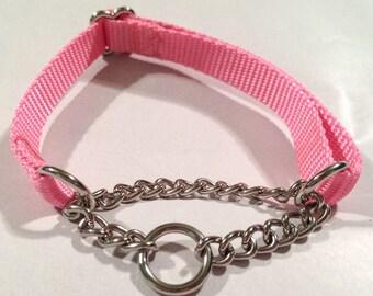 Half check chain dog collar