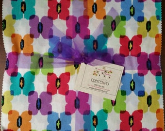 "Benartex Contempo Studios - Shadows/Paintbox Collection - By Michele D'Amore - 10"" x 10"" Layer Cake  - Cotton Woven Fabric"