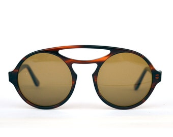 Mirage Comfort Sunglasses. Round aviator style. Made in Italy. NEW OLD STOCK 80s. Refurbished