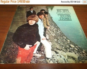 Save 70% Today Vintage 1966 Vinyl LP Record The Rolling Stones Big Hits High Tide and Green Grass Rare Mono Version Very Good Condition 860