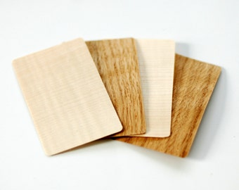 Wood business cards, Wooden business cards, Blank wood tags, Blank wood cards, DIY business cards, Oak business cards, Maple cards