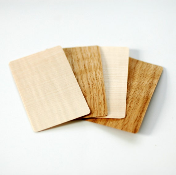 Wood business cards wooden business cards blank wood tags like this item reheart Images
