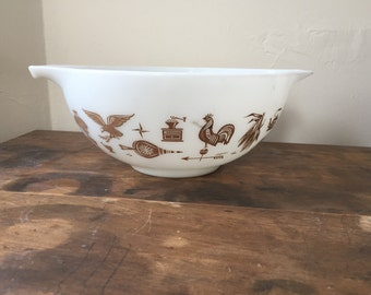 Vintage Early American Pyrex Cinderella Mixing Bowl, Replacement Piece to Finish your Set!