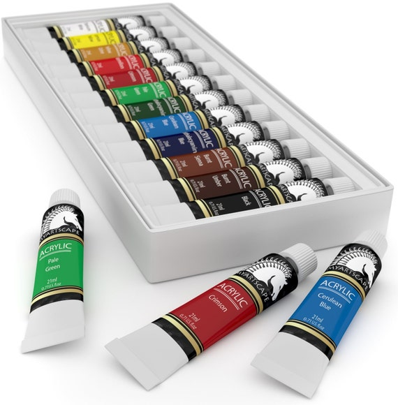 12x21ml acrylic paint set artist quality paints for for Professional painting supplies