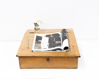 Slope Front Writing Box with Lock and Key
