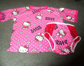 Adult baby 2pc set.  kitty