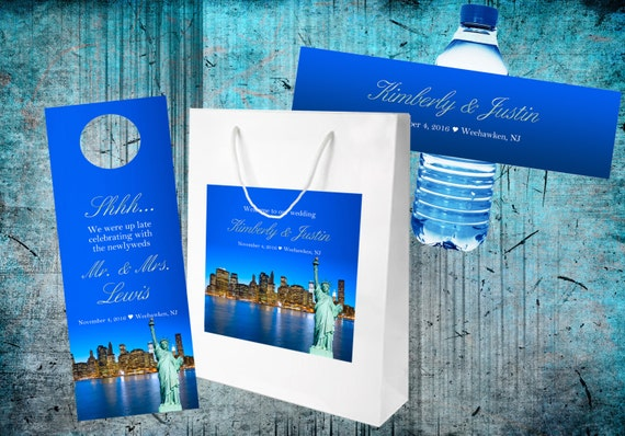 20 New York City Wedding Welcome Bag Sets with Bags, Water Bottle ...