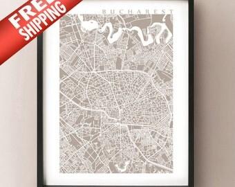 Bucharest Map Print