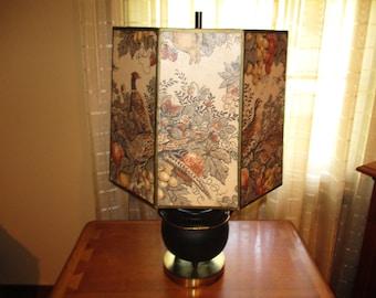 Mid Century Pheasant Theme Lamp