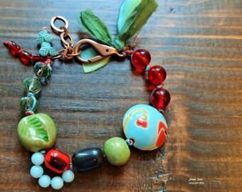 Poppy Field - Bracelet, Artisan, Casual, Cheerful