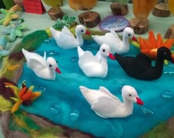 Felt Swans