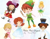 Peter Pan characters clipart : instant download, PNG file - 300 dpi
