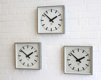 Industrial Factory Clocks By Pragotron Circa 1950's 30 Available